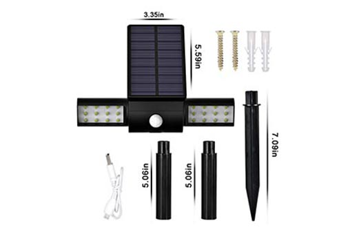 solar light parts with sizes